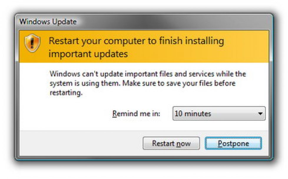 How to stop automatic restart when Windows perform updates